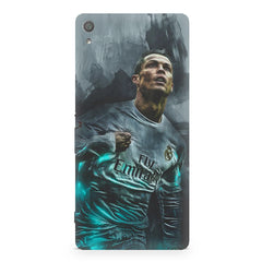 Oil painted ronaldo  design,  Sony Xperia XA  printed back cover