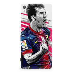 Messi illustration design,  Sony Xperia XA  printed back cover