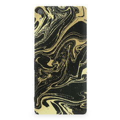 Golden black marble design Sony Xperia XA  printed back cover