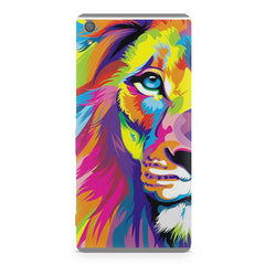 Colourfully Painted Lion design,  Sony Xperia XA1  printed back cover