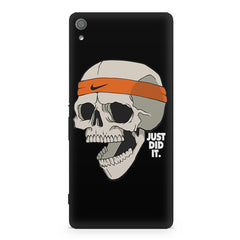 Skull Funny Just Did It !  design,  Sony Xperia XA1  printed back cover