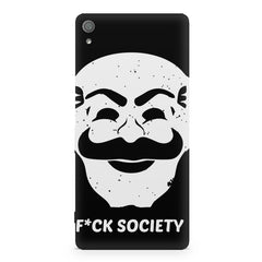 Fuck society design Sony Xperia XA  printed back cover
