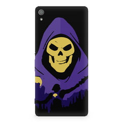 Evil looking skull design Sony Xperia XA  printed back cover