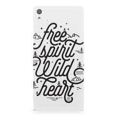 I am a free spirit design Sony Xperia XA  printed back cover