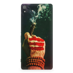 Smoke weed (chillam) design Sony Xperia XA1  printed back cover