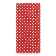 Cute hearts all over the cover design Sony Xperia XA1 Plus hard plastic printed back cover/case Sony Xperia XA1 Plus hard plastic printed back cover.