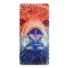 Zoomed Bear Design  Sony Xperia XA1 Plus hard plastic printed back cover.