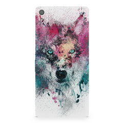 Splashed colours Wolf Design Sony Xperia XA1 Plus hard plastic printed back cover.