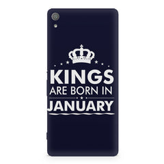 Kings are born in January design Sony Xperia XA1 Plus all side printed hard back cover by Motivate box Sony Xperia XA1 Plus hard plastic printed back cover.