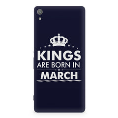 Kings are born in March design Sony Xperia XA1 Ultra all side printed hard back cover by Motivate box Sony Xperia XA1 Ultra hard plastic printed back cover.