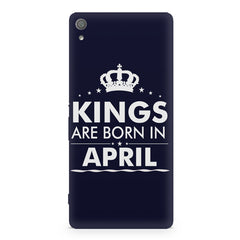 Kings are born in April design Sony Xperia XA1 Plus all side printed hard back cover by Motivate box Sony Xperia XA1 Plus hard plastic printed back cover.