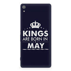 Kings are born in May design Sony Xperia XA1 Plus all side printed hard back cover by Motivate box Sony Xperia XA1 Plus hard plastic printed back cover.