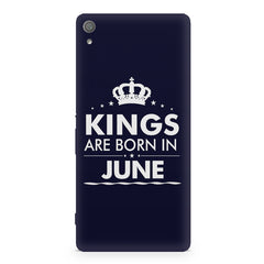 Kings are born in June design Sony Xperia XA1 Ultra all side printed hard back cover by Motivate box Sony Xperia XA1 Ultra hard plastic printed back cover.