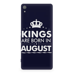 Kings are born in August design Sony Xperia XA1 Ultra all side printed hard back cover by Motivate box Sony Xperia XA1 Ultra hard plastic printed back cover.