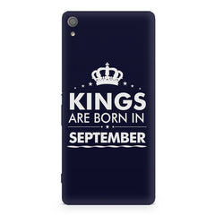 Kings are born in September design Sony Xperia XA1 Ultra all side printed hard back cover by Motivate box Sony Xperia XA1 Ultra hard plastic printed back cover.