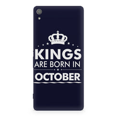 Kings are born in October design Sony Xperia XA1 Plus all side printed hard back cover by Motivate box Sony Xperia XA1 Plus hard plastic printed back cover.