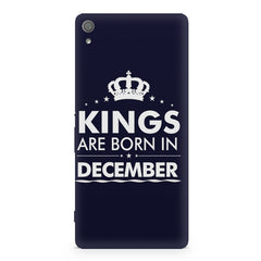 Kings are born in December design Sony Xperia XA1 Plus all side printed hard back cover by Motivate box Sony Xperia XA1 Plus hard plastic printed back cover.