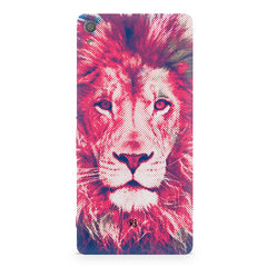 Zoomed pixel look of Lion design Sony Xperia XA1 Plus hard plastic printed back cover.