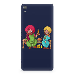 Punjabi sardars with chicken and beer avatar Sony Xperia XA1 Ultra hard plastic printed back cover.