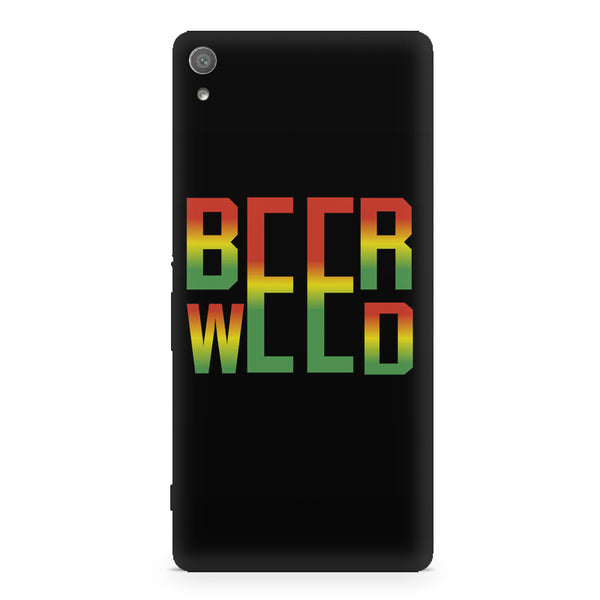 Beer Weed Sony Xperia XA1 Plus hard plastic printed back cover.