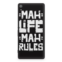 Mah Life Mah Rules Quirky design,  Sony Xperia XA  printed back cover