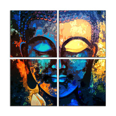 Lord Buddha design  split canvas frame 24 inches * 24 inches