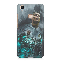 Oil painted ronaldo  design,  Vivo V3 Max  printed back cover