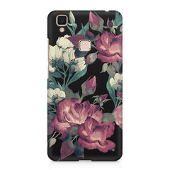 Abstract colorful flower design Vivo V3 Max  printed back cover