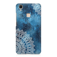 A Vivid Blue ethnic yet cool pattern Vivo V3 Max hard plastic printed back cover