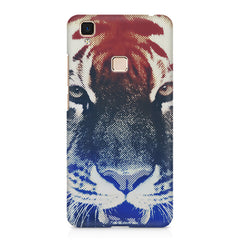 Pixel Tiger Design Vivo V3 hard plastic printed back cover