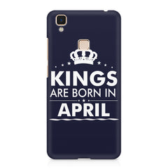 Kings are born in April design    Vivo V3 hard plastic printed back cover