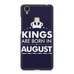 Kings are born in August design    Vivo V3 hard plastic printed back cover