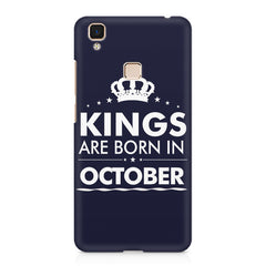 Kings are born in October design    Vivo V3 Max hard plastic printed back cover