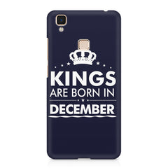 Kings are born in December design    Vivo V3 Max hard plastic printed back cover