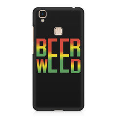 Beer Weed Vivo V3 Max hard plastic printed back cover