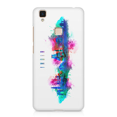 Incredible India Design Vivo V3 Max hard plastic printed back cover