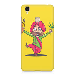 Sardar dancing with Beer and Marijuana  Vivo V3 hard plastic printed back cover