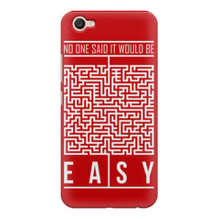 No One Said It Would Be Easy- Start-Up Struggle Quotes design,  Vivo Y55L  printed back cover