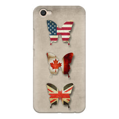 Butterfly in country flag colors Vivo Y55L  printed back cover