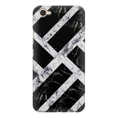 Black & white rectangular bars  Vivo Y55L  printed back cover