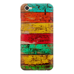 Strips of old painted woods  Vivo Y55L  printed back cover