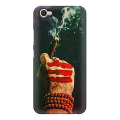 Smoke weed (chillam) design  Vivo Y71 hard plastic printed back cover.