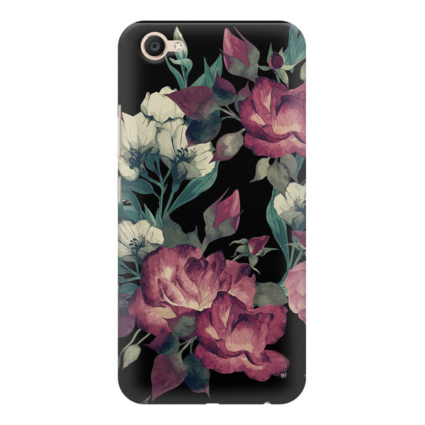 Abstract colorful flower design Vivo Y55L  printed back cover