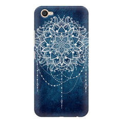 Ethnic design on blue pattern Vivo V5 printed back cover