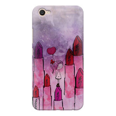 Girl with lipsticks sketch design Vivo V5 printed back cover