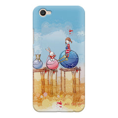 Woollen ball ride sketch design Vivo V5 printed back cover