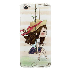 Girl swinging sketch design Vivo V5 printed back cover