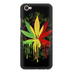 Marihuana colour contrasting pattern design Vivo V5 printed back cover