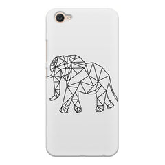 Geometrical elephant design Vivo V5 printed back cover