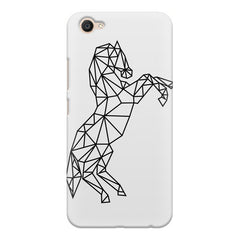 Geometrical horse design Vivo V5 printed back cover